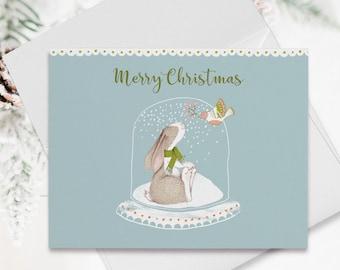 Holiday Note Card Set (12) - Bunny Love (HC11)