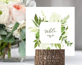 Table Number Cards - Whispering Garden (Style 13799)