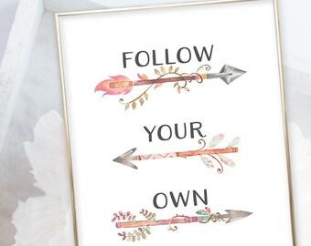 Kid's Wall Art - Follow Your Own Arrow (W00003)