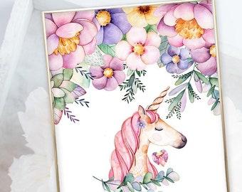 Kid's Wall Art - Unicorn Magic (W00055)