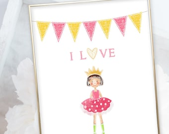 Kid's Wall Art - Things I Love/Girl's Room (W00012)
