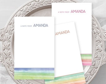 Personalized Note Cards - Watercolour Paint Dip (NC01)