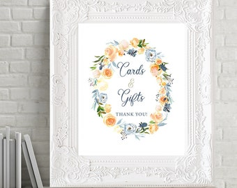 Printable Cards & Gifts Sign - Thistle and Bloom (Style 13796)