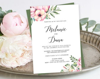 Printable Wedding Stationery - Country Bloom (Style 13778)