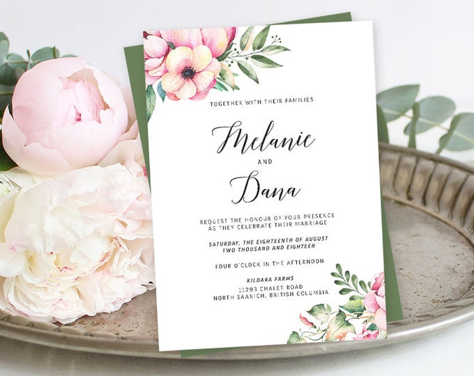 Wedding Invitations - Country Bloom (Style 13778)