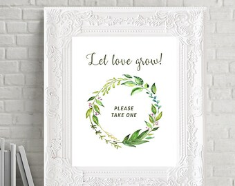 Let Love Grow Printable Sign - Breezy Leaf (13701)