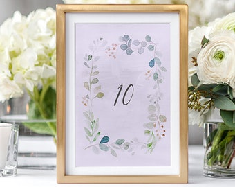 Table Number Cards - Enchanted (Style 13852)