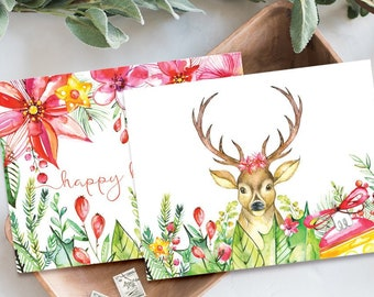 Holiday Note Card Set (24) - Holiday Garden (HC6&7)