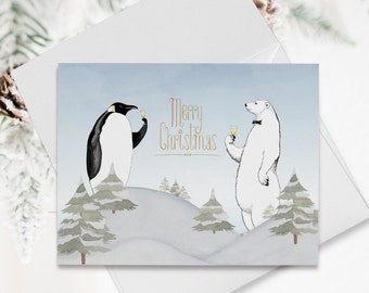 Holiday Note Card Set (12) - Cheers From Us (HC12)