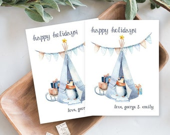 Holiday Note Card Set - Holiday Penguin (HC16)
