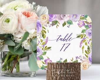 Table Number Cards - Sweet Marie (Style 13797)