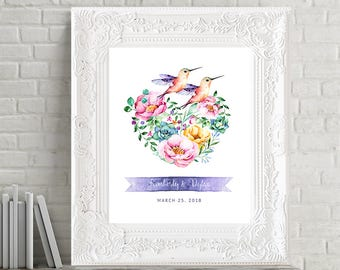 Reception Signs/Our Wedding Day - Hummingbird Garden