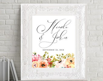Reception Signs/Our Wedding Day - Mountainside Meadow (Style 13751)