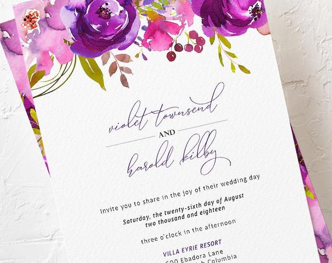 Featured listing image: Wedding Invitations - Purple Passion (Style 13785)