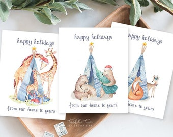 Holiday Note Card Set (9) - From Our Home to Yours (HC13)