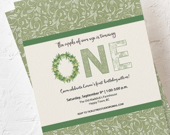 Birthday Party Invitations - Apple of Our Eye (Style 13595)