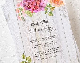 Wedding Invitations - Summer Blooms (Style 13616)