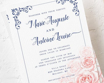 Marie Antoinette, Let Them Eat Cake - Wedding Invitations (Style 13770)