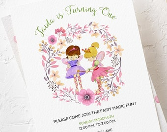 Birthday Party Invitations - Magical Garden (Style 13618)