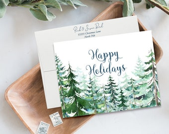 Holiday Note Card Set (12) - Holiday Forest (HC10)