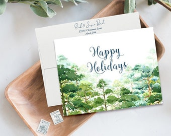 Holiday Note Card Set (12) - Holiday Forest (HC09)