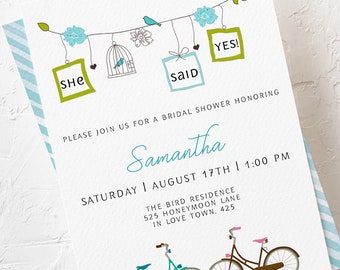 Bridal Shower Invitations - She Said Yes (Style 13053)