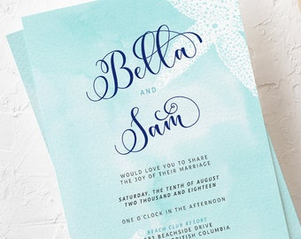 Wedding Invitations - Coastal Waters (Style 13200)