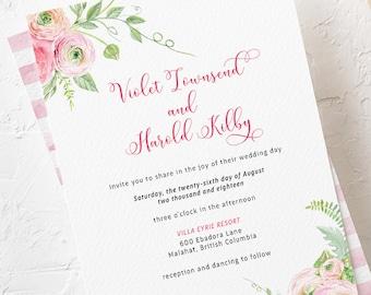 Wedding Invitations - Ranunculus Days (Style 13786)