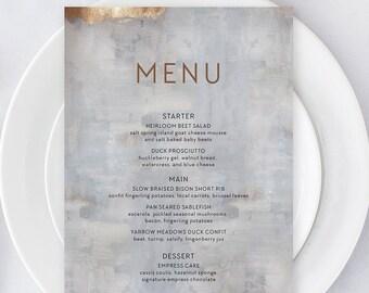 Menus/Table Decor - Modern/Copper & Grey (Style 13834)