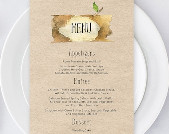Menus/Table Decor - Woodlands Camp (Style 13569)