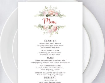 Menus/Table Decor - Roses in Bloom (Style 13807)