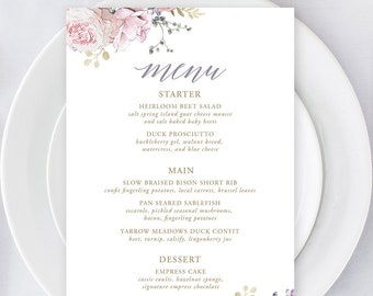 Menus/Table Decor - White Rose & Gold (Style 13806)