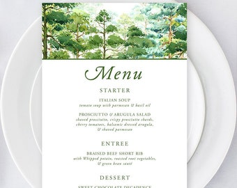 Printable Menu - Forest Dreams (Style 13777)