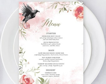Day of Details - Menus/Design & Printing - Dreamy Garden (Style 13830)