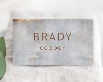 Place Cards - Modern/Copper & Grey (Style 13834)