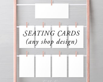 Seating Cards - Any Shop Design