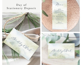 Morning Forest (Style 13774) - Day of Stationery Deposit Add On