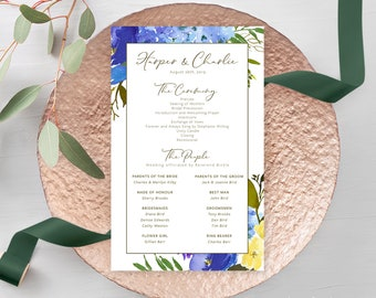 Wedding Programs - Sweet Carolina (Style 13888)