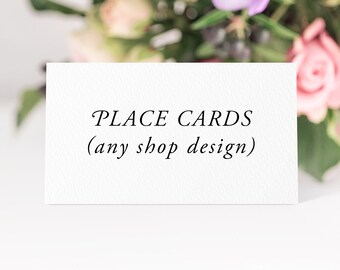 Place Cards (flat) - Any Shop Design