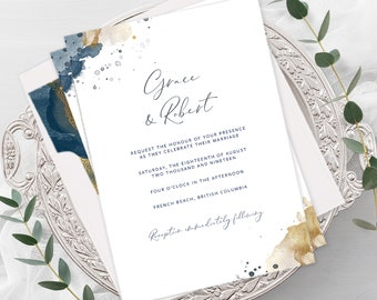 Wedding Invitations - Sea Breeze (Style 13901)