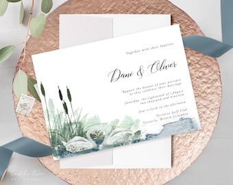 Wedding Invitations - Swan Lake 2 (Style 13864)