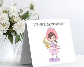 Instant Download - Note Card, Will You Be Our Flower Girl (Style 13955-6)