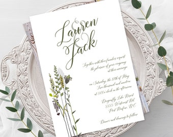 Wedding  Invitations - Simple Grasses (Style 13210)