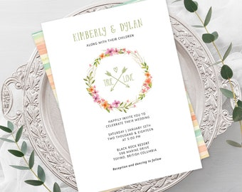 Wedding  Invitations - My True Love (Style 13599)