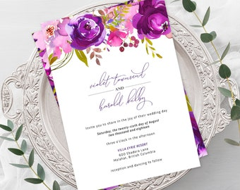 Wedding  Invitations - Purple Passion (Style 13785)