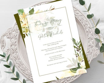Wedding  Invitations - Sweet Vanilla (Style 13889)