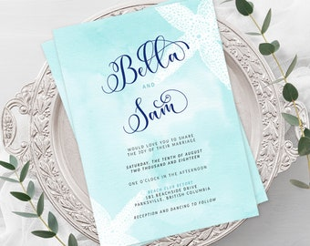 Wedding  Invitations - Coastal Waters (Style 13200)
