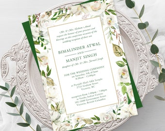 Wedding  Invitations - Antique White (Style 13886)