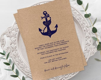Wedding Invitations - Anchors Away (Style 13855)