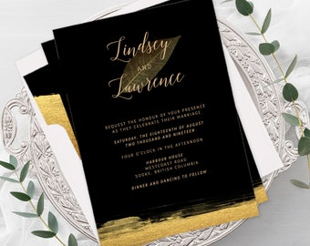 Wedding Invitations - Black Tie (Style 13782)